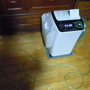 テイジン在宅酸素吸入器+携帯用ボンベ(;・∀・)