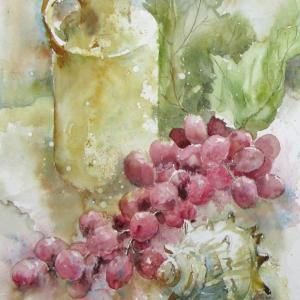 葡萄と貝殻
