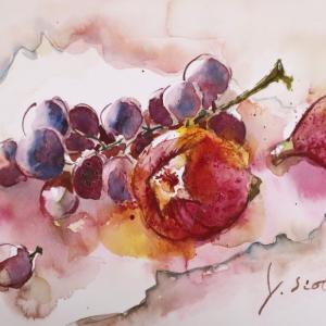 イチジクと葡萄