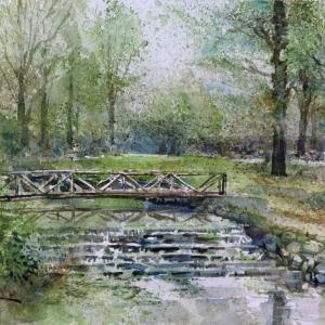 小川の流れる公園