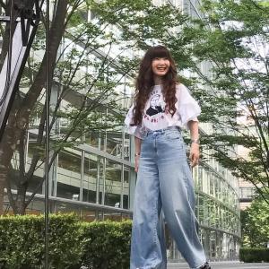 GUエクストラワイドジーンズとZARAのTシャツで真夏のプチプラコーデ
