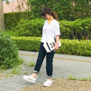 メンズ白Tシャツを着まわし!!白Tシャツとデニムのシンプルコーデを今年風にアップデート