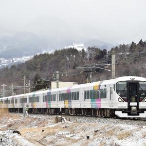 E257系0番台 篠ノ井線を行く