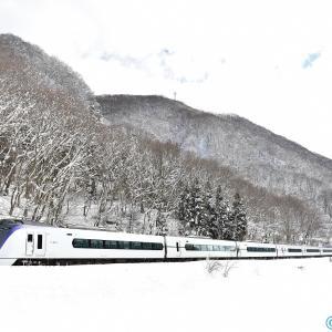 雪景色とあずさ