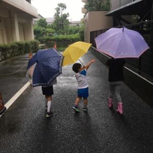 子どもは雨が好き