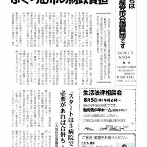 6月議会報告の議員団発行ニュース