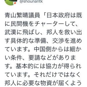速報!日本政府も武漢へ邦人救出の飛行機を準備中