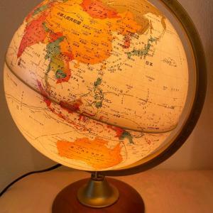 地球儀を購入(笑)武漢⇄日本の距離に驚倒!