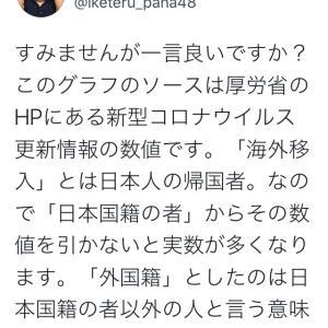 感染者数:日本人率の低さ!NHKデータより