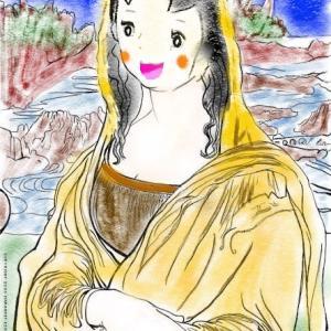 モナリザのハイジバージョン塗り絵(笑)