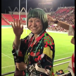 #ラグビーワールドカップ #吉本興行 #男と女 #和田さん #市川くん #花園ラグビー場 #パブリックビューイング #rwc2019 応援に来てたんだ‼