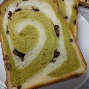 池川茶入り食パン、おいしい手作りキンパッ&パンダめだかと秋明菊★