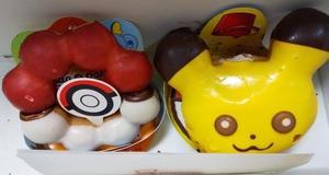 ポケモンドーナツ、美しい三色羊羹、台湾カステラチーズケーキ&リースとセンリョウの実★