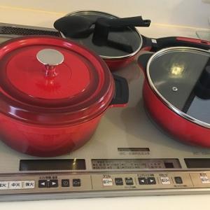 キッチンIHまわりのお掃除と新しいお鍋セット