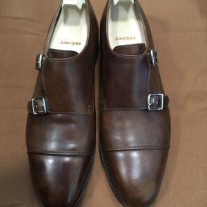 ジョンロブ つま先補強  太田市の印鑑、靴修理、電池交換はみらい工房