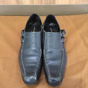 青、紺色系 靴磨き 太田市の合鍵、靴修理、印鑑はみらい工房