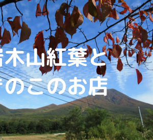 岩木山は紅葉シーズン♪直売所の四季彩館と野市里でサモダシとナメコを売っていました