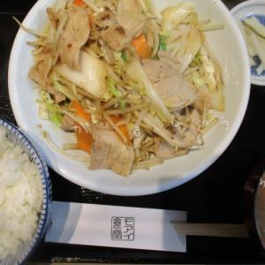 大衆中華モアイ食堂「肉野菜炒め定食」と今週の定食「五目あんかけ焼きそば」