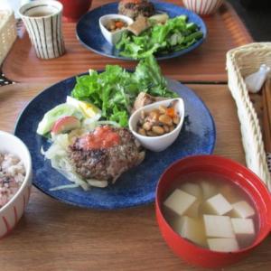 発酵カフェフローラ・特製ハンバーグセットは腸活にgood
