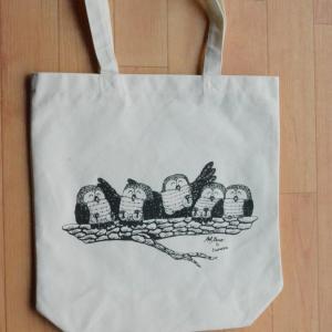 幸せを呼ぶ鳥、シマフクロウをモチーフにしたトートバッグを新発売