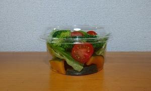 ミニトマトの容器と今週のお弁当