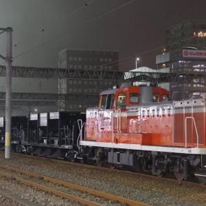 7/22 DE10牽引我孫子工臨 水戸からホキ8両で発車
