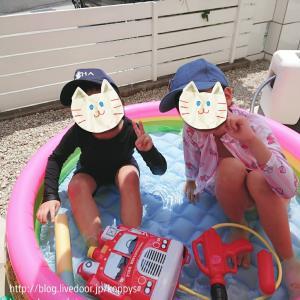 夏休み・お家でプール☆