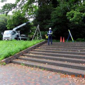 20210624-1  :  青葉の森公園から (東京の午後土砂降りでしたな・カメラ遠望から )