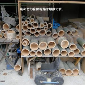 冬の竹加工は順調