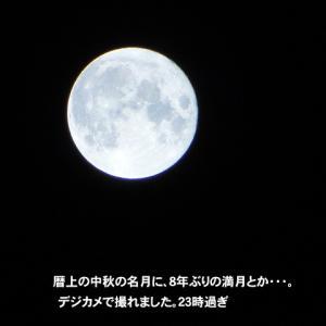 中秋の名月です。