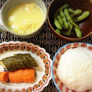 枝豆、コーンスープ