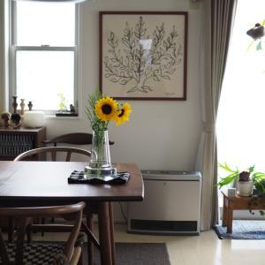 ご機嫌でひまわりを飾ったけど、季節感のおかしいインテリアになってしまった我が家。
