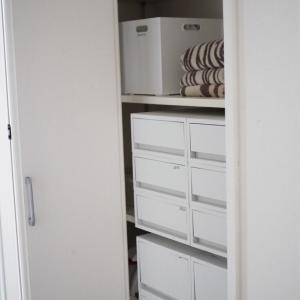 2階の脱衣洗面所の収納改善!