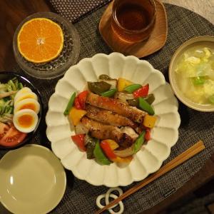 お野菜もお肉もオーブンでまとめてお料理。色鮮やかな晩ごはん。楽天スーパーセールポチレポ!