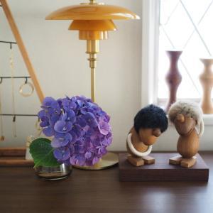 念願の「庭の紫陽花飾りました!」投稿。笑