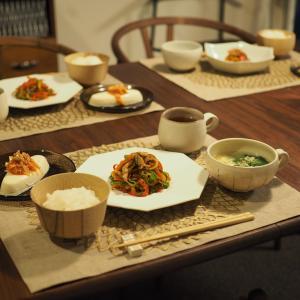 またまた短時間で出来るお料理で晩ごはん。