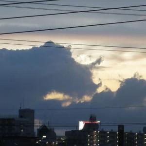 夕方の雲① サイ?