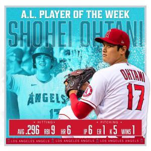【MLB】大谷翔平 .272  23本 10盗塁 出塁率.357 ops1.005