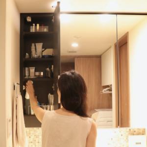 【洗面所の鏡裏収納】狭くなってもすっきり収まった、3つの割り切りポイント