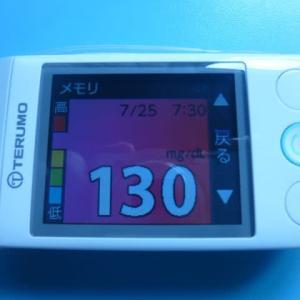 7/28 今朝の血糖値です。
