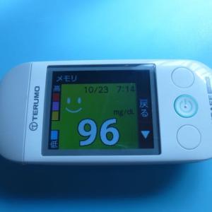 10/23 今朝の血糖値です。