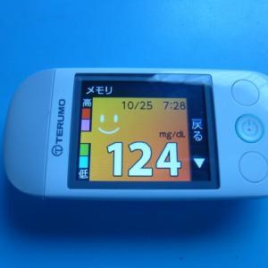 10/25 今朝の血糖値です。家事。