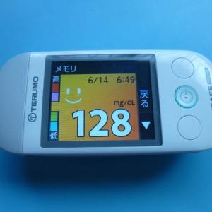 6/14 今朝の血糖値です。2021 世界献血者デー