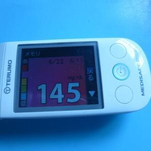 6/22 今朝の血糖値です。安全安心。