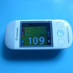 7/6 今朝の血糖値です。土石流。