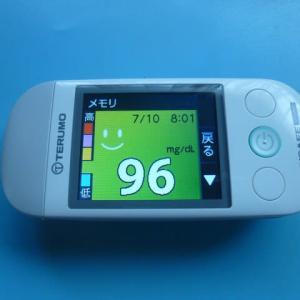 7/10 今朝の血糖値です。「緊急安全確保」