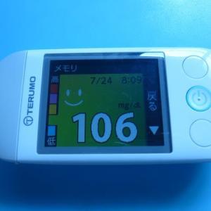 7/24 今朝の血糖値です。五輪開会式165億円。
