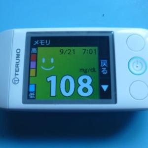 9/21 今朝の血糖値です。住宅ローン決済。場所は?