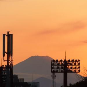 夕焼け富士2021年二回目