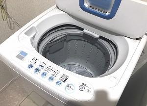 洗濯機の給水が止まらず洗濯機を買い替えるかもしれない。